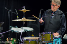 "Billy plays drums on the ""Atlanta Jazz & Blues Show"" TV47 Atlanta, Ga."